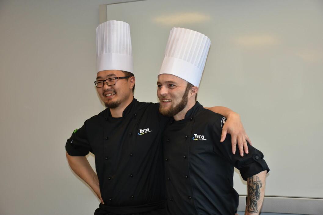 Pål Anda og Espen Borsheim Bergsaker fra Toma utgjør det ene laget som er klar for finalen i kantine-NM. (Foto: Kantine-NM)