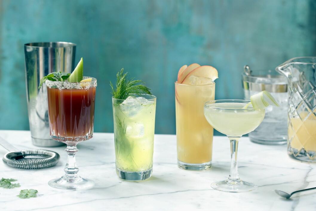 Akevitt brukes på mer utradisjonelt vis – som base i drinkene. (Foto: Nadin Martinuzzi)