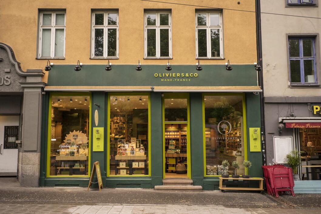 Den nye Oliviers&Co-butikken på Grünerløkka i Oslo. (Foto: Jim Hensley)