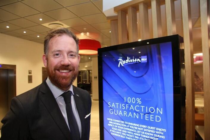 Kristoffer Solstad, HR-direktør for Carlson Rezidor Hotel Group i Norden. (Foto: Morten Holt)