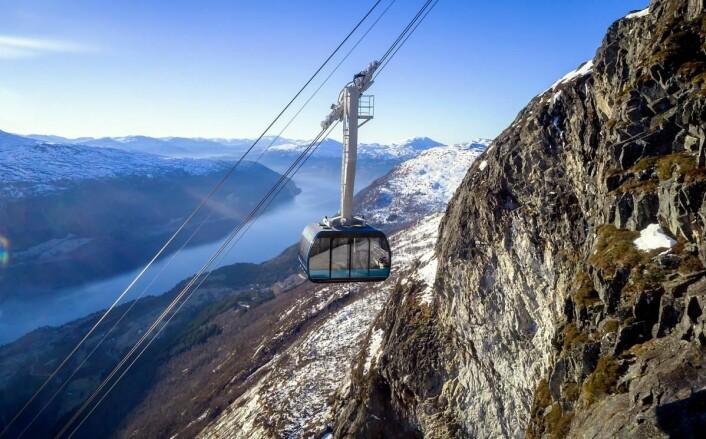 «Norges letteste topptur». (Foto: Lars Korvald/Loen Skylift)