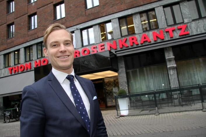 Lars Petter Mathisen er hotelldirektør på Thon Hotel Rosenkrantz i Oslo, sølvvinner i fjor og blant finalistene også i 2017. (Foto: Morten Holt)
