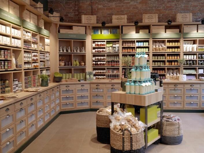 Oliviers&Co-butikken på Grünerløkka er den første i verden i den verdensomfattende kjeden med ny design. (Foto: Jim Hensley)