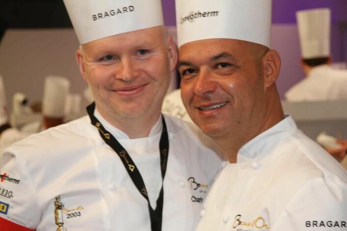 Charles Tjessem sammen med Jerome Bocuse. (Foto: Morten Holt)