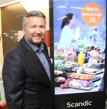 – Norge er i en særstilling når det gjelder hotellfrokost, mener administrerende direktør i Scandic Hotels, Svein Arild Steen-Mevold. (Foto: Morten Holt)