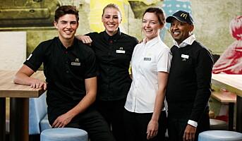 Første McDonald's i Norge med 100 medarbeidere