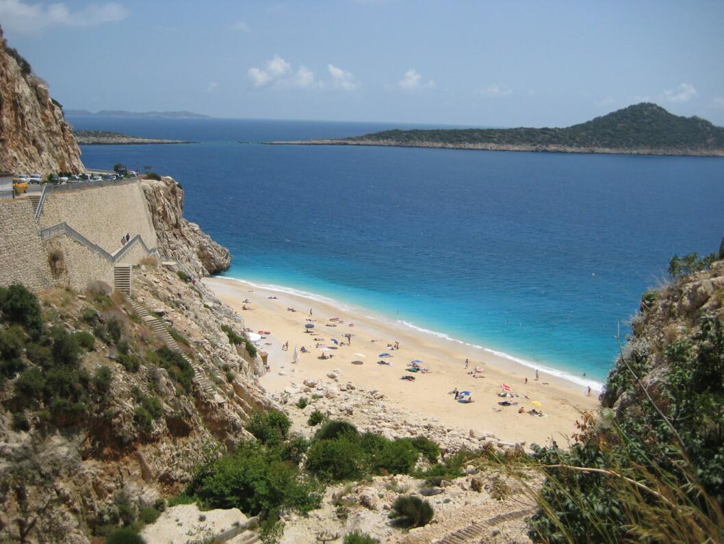 Kaputas beach på sørkysten av Tyrkia, mellom Antalya og Fethiye. (Foto: Morten Holt)