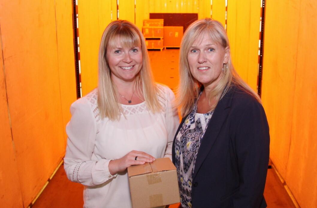 – Leveringsevne er stikkordet, sier prosjektleder Irene Gulbransen (til venstre) og markedssjef Kathrine B. Starheim hos Culina. (Foto: Morten Holt)