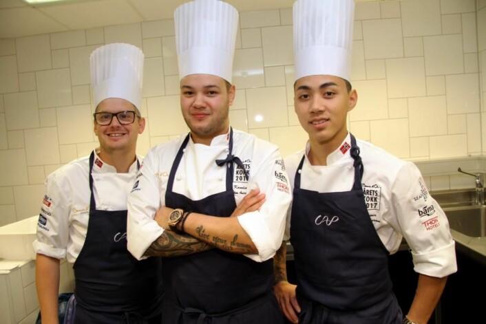 Team CAP. Fra venstre coach Karl Erik Pallesen, Christian André Pettersen og Kim Iamram. (Foto: Morten Holt)