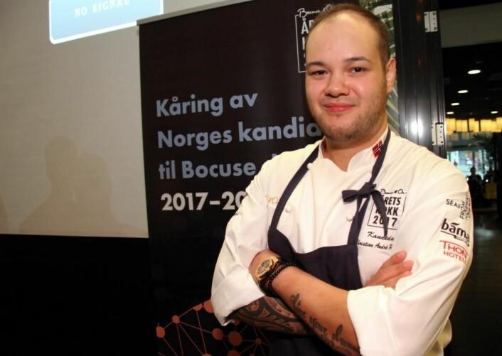 Bocuse d'Or har vært målet for Christian A. Pettersen i lang tid. I 2015 ble han nummer to i Årets kokk. (Foto: Morten Holt)