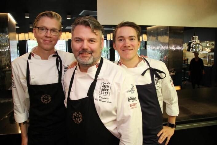 Team GMS er klar for Årets kokk 2017. (Foto: Morten Holt)
