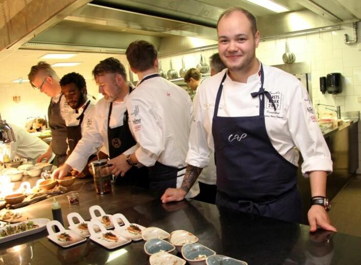Christian A. Pettersen har vunnet en rekke kokkekonkurranser. (Foto: Morten Holt)