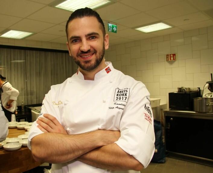 Filip A. Bendi har arbeidet på en rekke kjente restauranter, deriblant Noma, Mathias Dahlgren Matsalen og Restaurant Daniel i New York. (Foto: Morten Holt)