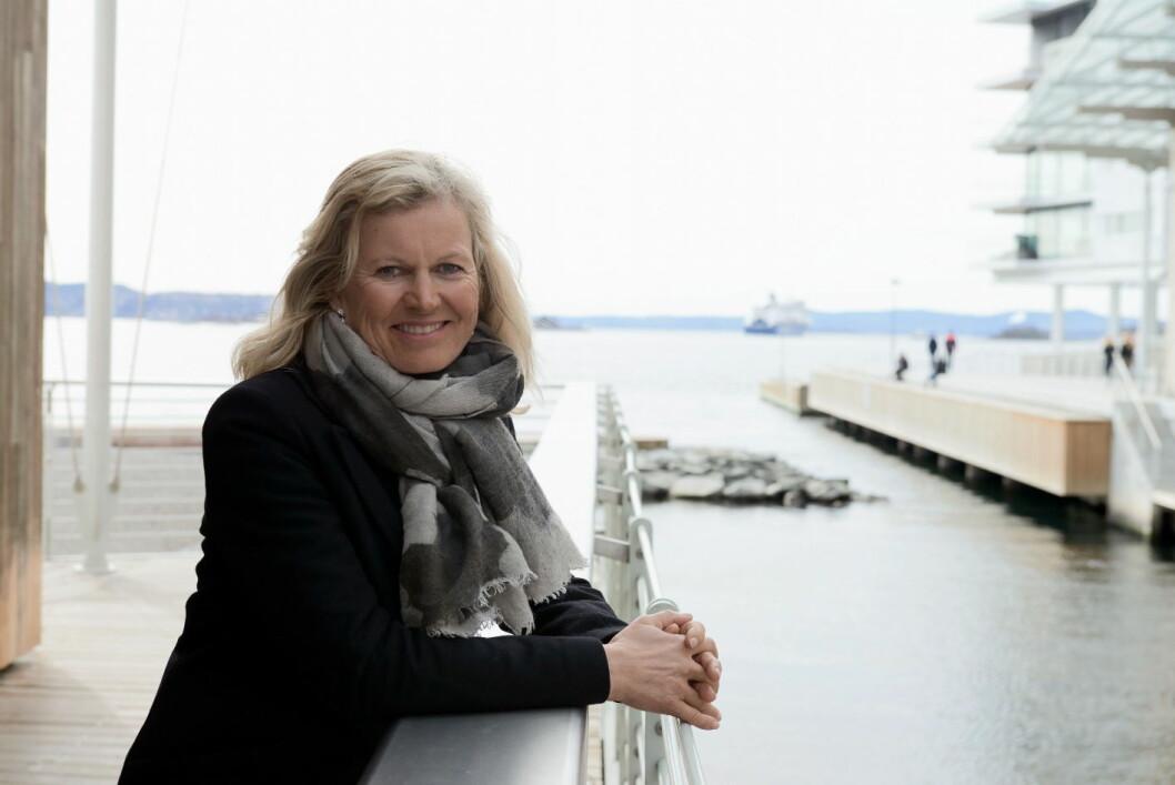 Kristin Krohn Devold åpner konferansen. (Foto NHO Reiseliv/Per Sollerman)