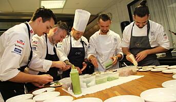Deltakerne med pulsmåler i Årets kokk-finalen