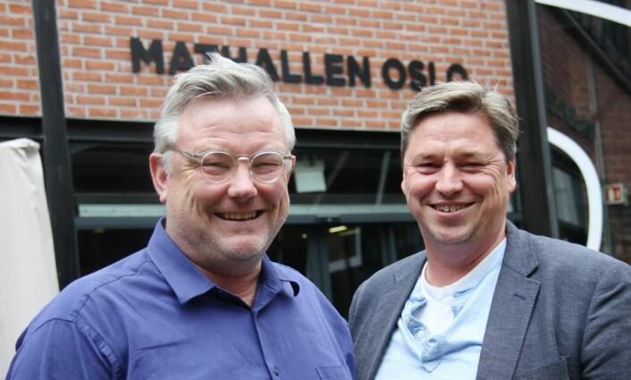 Sentrale personer i Mathallen; Sverre Landmark og Frode Rønne Malmo hos Aspelin Ramm. (Foto: Morten Holt)
