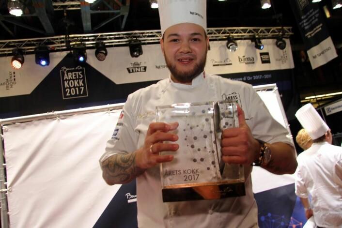 Christian A. Pettersen er vinner av Årets kokk 2017. (Foto: Morten Holt)