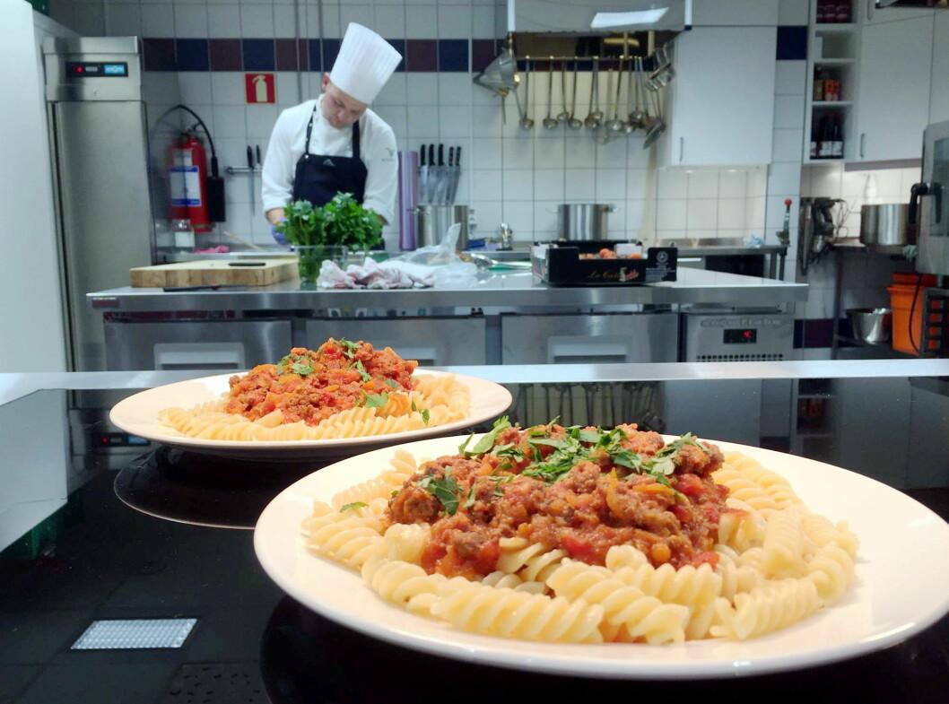 Fra Fazer-kantinen hos GC Rieber i Bergen. (Foto: Fazer Food Services)
