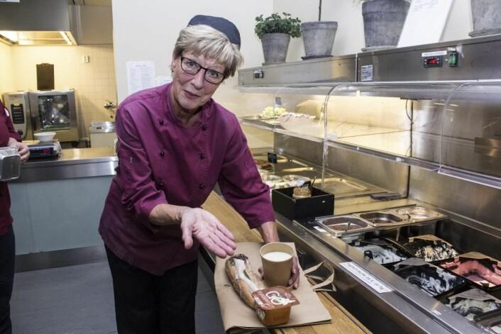 Assisterende seksjonsleder Kafé & Catering på Akershus Universitetssykehus, Ranghild Holsen. (Foto: Bente Kvien, RB)