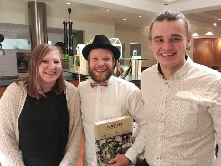 Scandic Maritims vinnerlag: Fra venstre Vanja Høl Nilsen, lagleder Tore Stalsberg og Olve Akselsen. (Foto: Scandic Hotels)