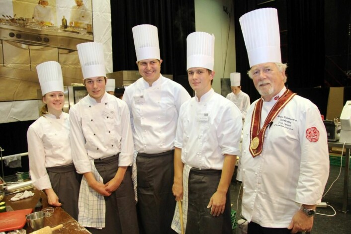 Som alltid arrangeres lærlingekonkurransen for kokker på Østlandske Storhusholdning, og Frode Myklevik (til høyre) er en av ildsjelene bak konkurransen. (Arkivfoto: Morten Holt)