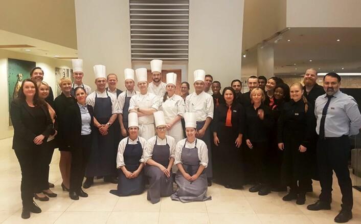 Frokostteamet på Scandic Nidelven i 2017. (Foto: Scandic Hotels)