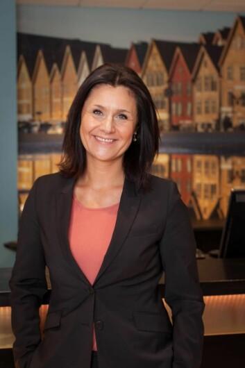 – At vi kom blant topp tre i finalen i år er fantastisk, sier hotelldirektør på Thon Hotel Rosenkrantz Bergen, Katharina Hanson. (Foto: Thon Hotels)