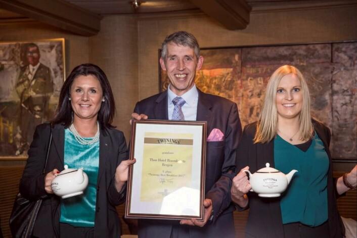 Bronse i Twinings Best Breakfast 2017 til Thon Hotel Rosenkrantz Bergen. (Foto: Ihne Pedersen/Haugen-Gruppen)