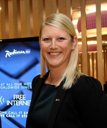 Helene Hallre er bare 32 år, men har allerede lang fartstid i Radisson Blu. (Foto: Morten Holt)