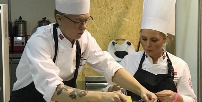 Henrik Falkensten og Thea Victoria Thoren Jensen i aksjon. (Foto: NKL)