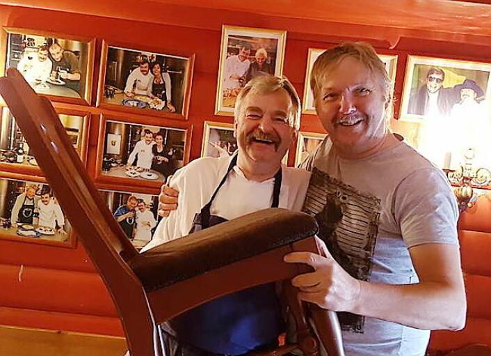 Frode Furunes sammen med Frode Aga. (Foto: Privat)