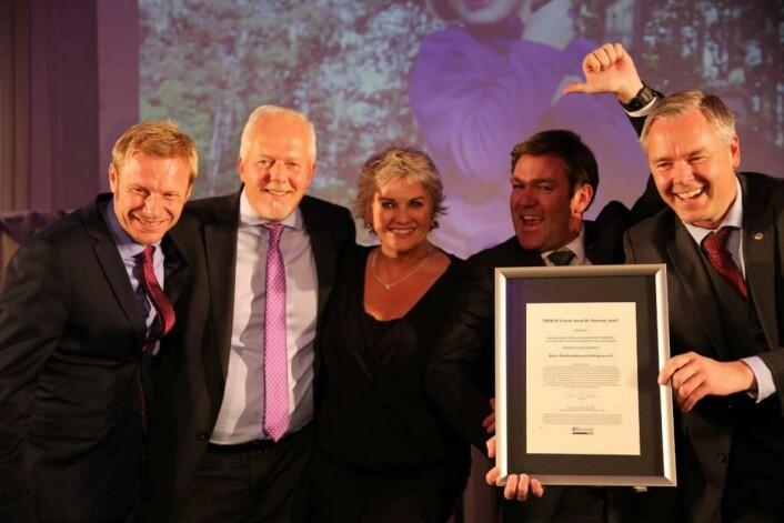 Vinnerprisen for «Beste destinasjonsutviklingsevent» gikk til DestinasjonsKirurgene og Beitostølen. (Foto: Camilla Bergan)