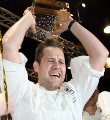 Christopher W. Davidsen har akkurat vunnet Årets kokk i Mathallen i 2015. (Foto: Morten Holt)