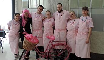 Fazer-kantinene er rosa i oktober