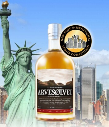 Gull til Arvesølvet i New York International Spirits Competition.
