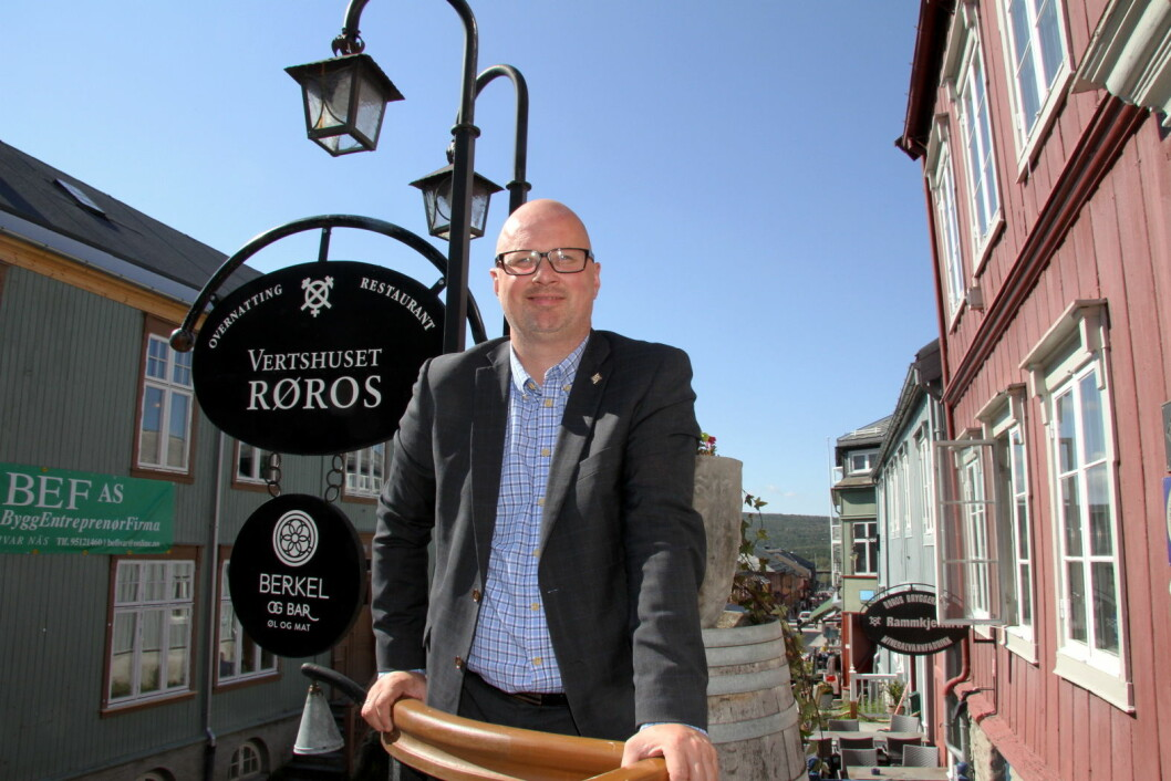 Terje Lysholm er administrerende direktør for Røros Hotell AS. (Foto: Morten Holt)