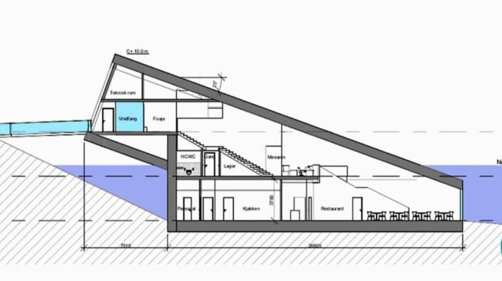 Under får tre etasjer og blir totalt på 592 kvadratmeter. (Illustrasjon: Snøhetta)