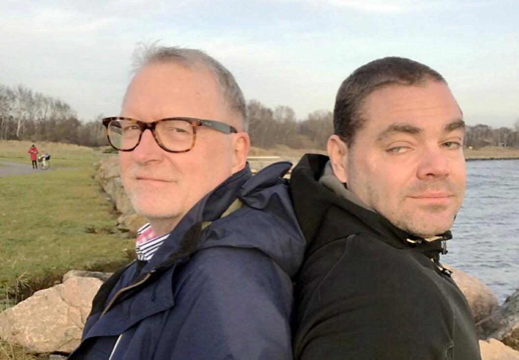 Forfatter Lars-Erik Litsfeldt (til venstre) og Patrik Olsson. (Foto: Privat)