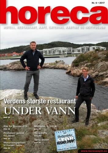 Forsiden på det siste nummeret av magasinet Horeca (nummer 6 2017). (Foto: Morten Holt/layout: Tove Sissel Larsgård)