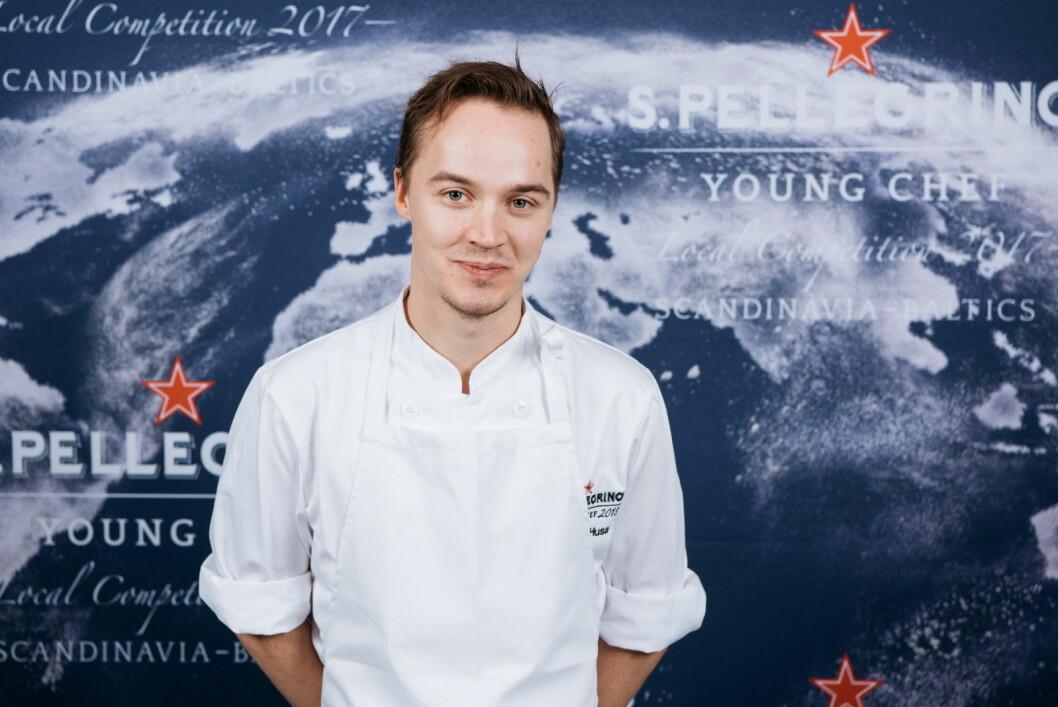 Svenske Anton Husa skal representere region Skandinavia og Baltikum i den globale finalen av S Pellegrino Youn Chef i juni 2018. (Foto: S. Pellegrino Young Chef)