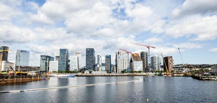 Barcode ligger midt i Oslos nye sentrum. (Foto: Katrine Lunke)
