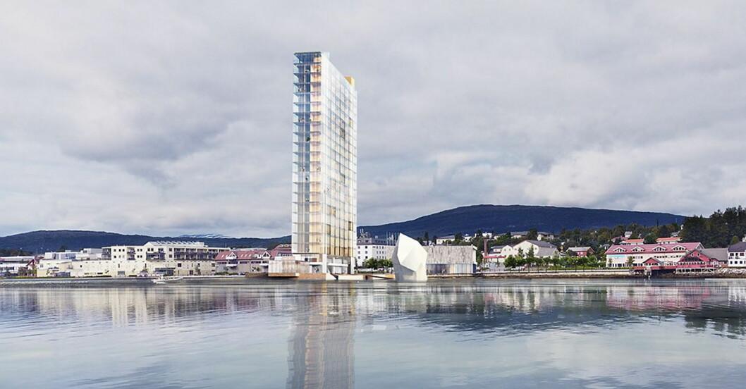 Slik blir Tower Hotell i Fauske. (Illustrasjon: Snøhetta)