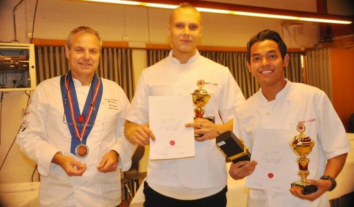 Joachim Hantho og Junus Chimwisas fra Søtt + Salt i Bergen ble nummer to, og er også klare for NM. (Foto: Arrangøren)
