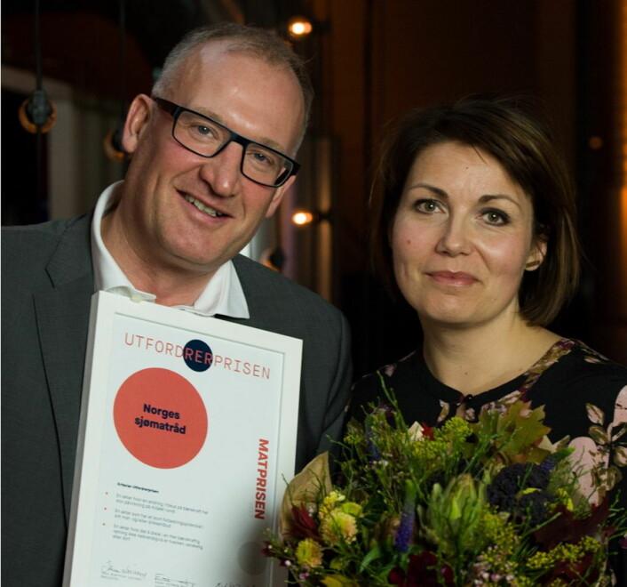 Utfordrerprisen til Norges sjømatråd. (Foto: Joachim Sollerman)