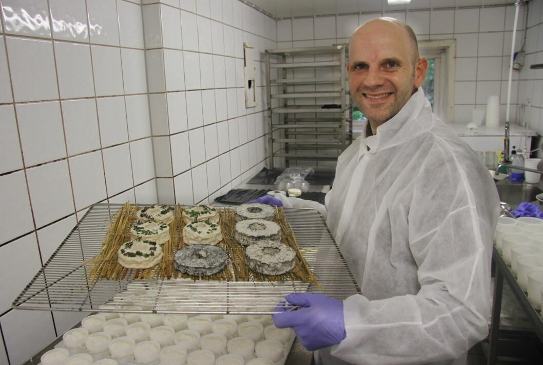Bo Jensen er en av mange norske deltakere i oste-VM i London. (Foto: Morten Holt)