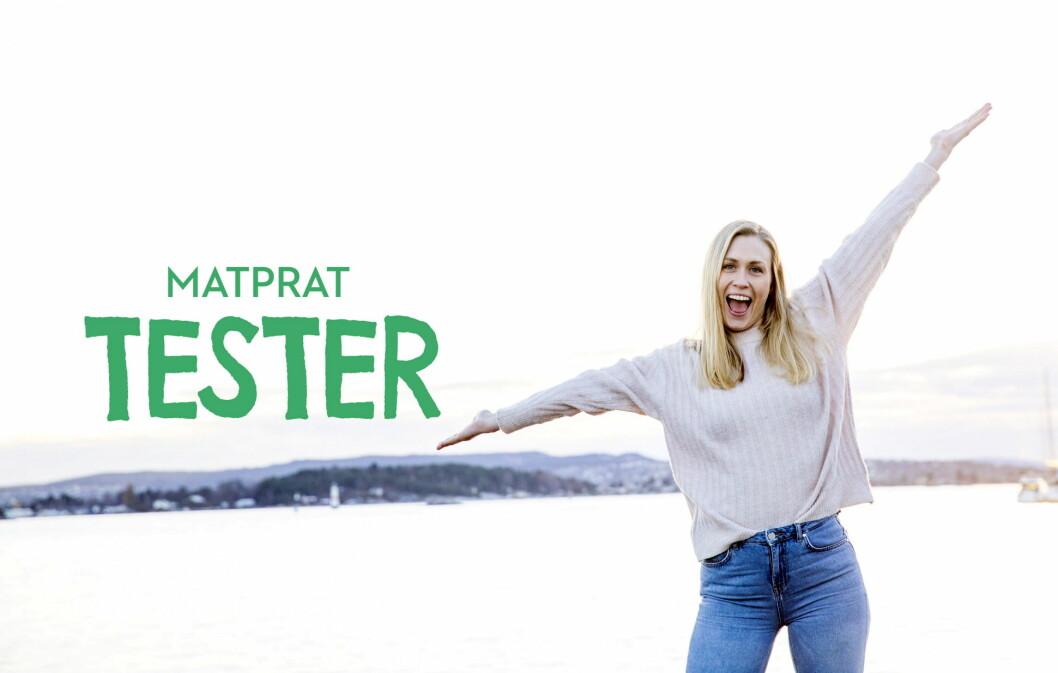 Matrådgiver Britt Marlene Kåsin tar deg med på en reise for å finne ut av stort og smått om mat i den nye webserien MatPrat Tester. (Foto: MatPrat)