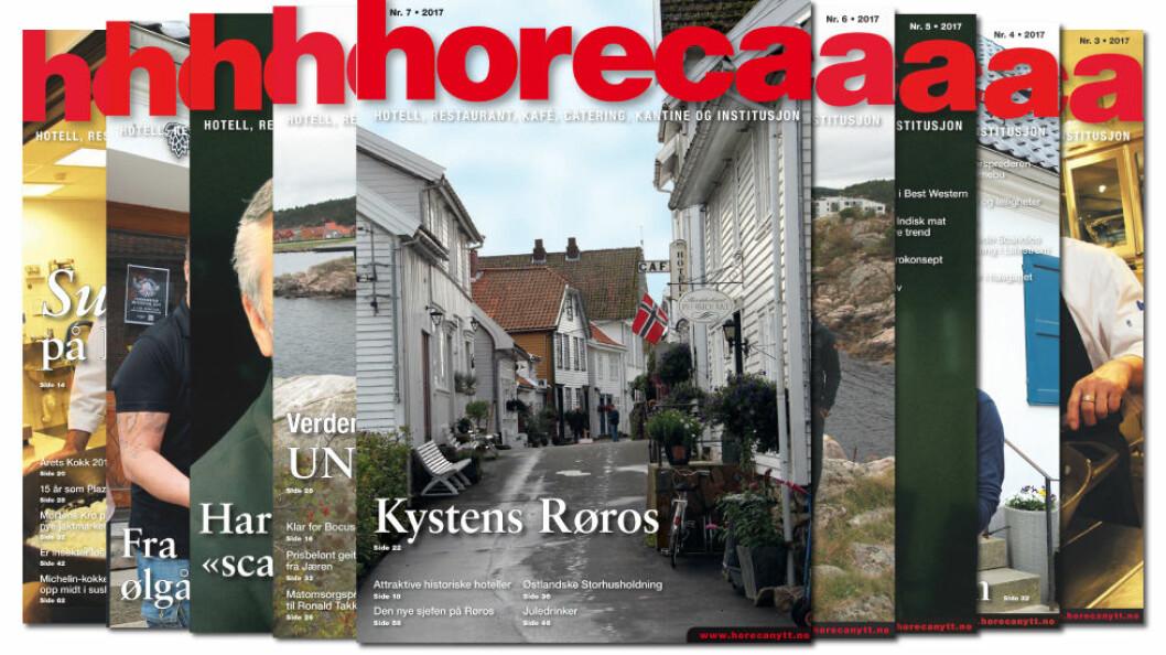 Omslaget på Horeca nummer 7 2017. (Foto: Morten Holt/layout: Tove Sissel Larsgård)