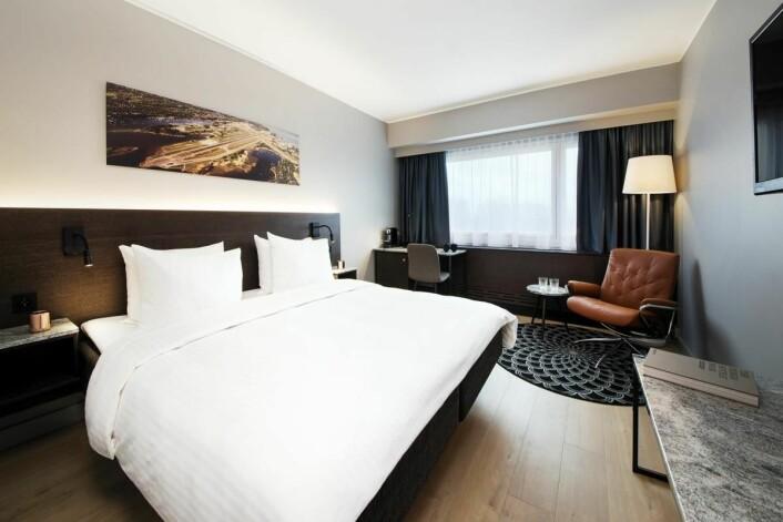 Ett av rommene på hotellet. (Foto. Rezidor)