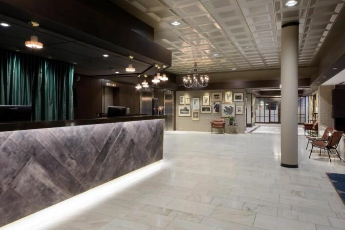 Resepsjonen på Radisson Blu Park Hotel Fornebu. (Foto: Rezidor)