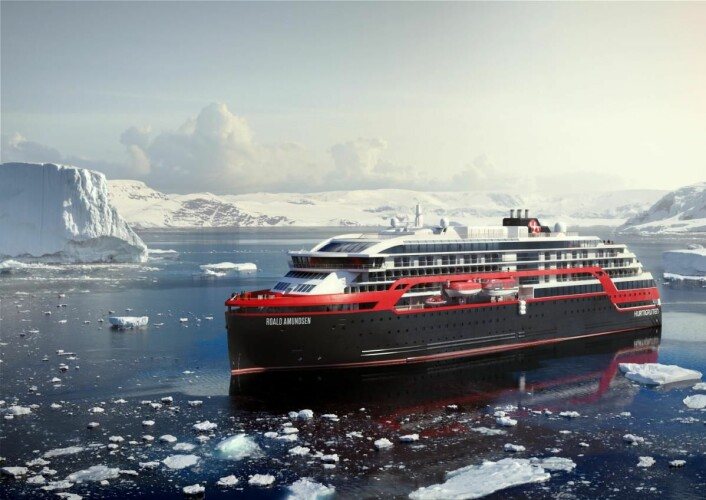 MS Roald Amundsen. (Illustrasjon: Hurtigruten)
